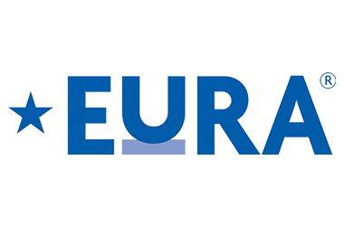 EURA logo - Blue text on white background