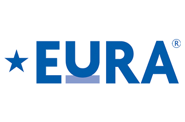 EURA logo - Blue text on white background